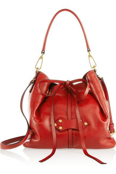 Miu Miu Vibrant Red Bucket Bag with Adjustable Shoulder Strap Fall 2014