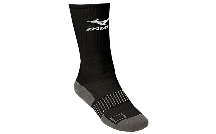 Mizuno Performance Crew Socks (BLACK)