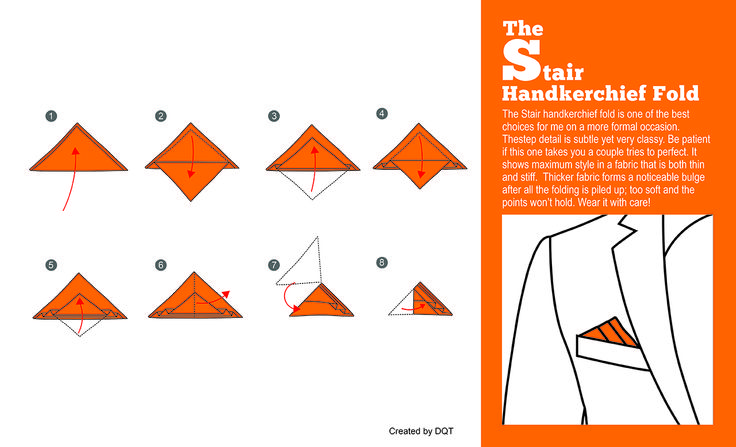How To Fold a Stair Handkerchief (9 of 11) by DQT