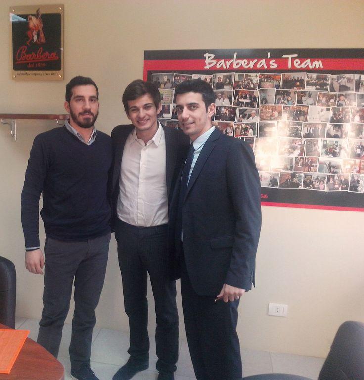 P&A Kalantis & Barbera Caffe with enrico Barbera , achikke Kalantzis & Panos Kalantzis @ Barbera Caffe Naples factory