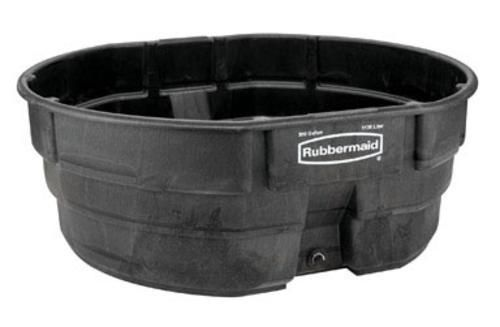 Rubbermaid 424700BLA Poly Stock Tank 300 Gallon - Black