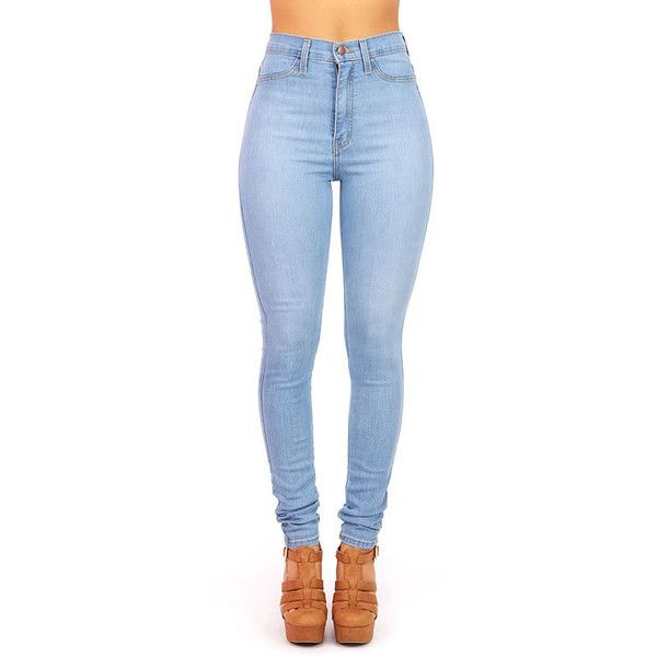 High Waisted Jeans Denim - Jon Jean