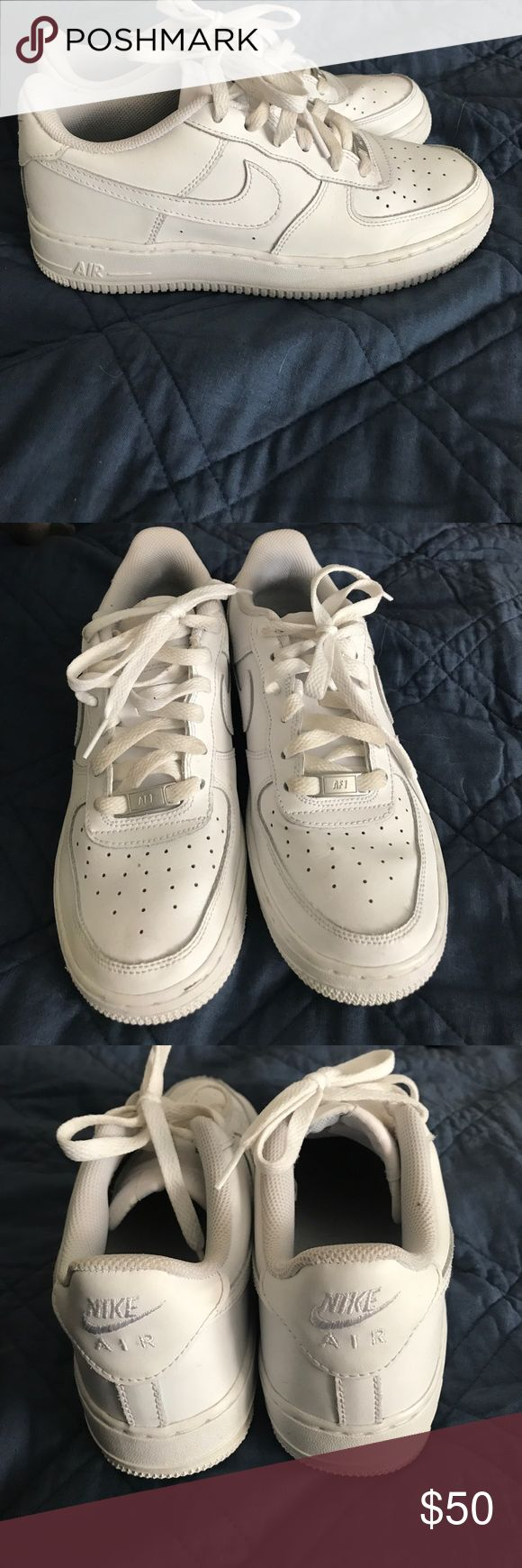 Nike Shoes All white Nike Air Force 1's. Size 6Y but fit a women's size 6 or 6 1/2 Nike Shoes