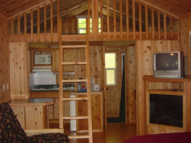 One room cabin with loft Cottage with loft