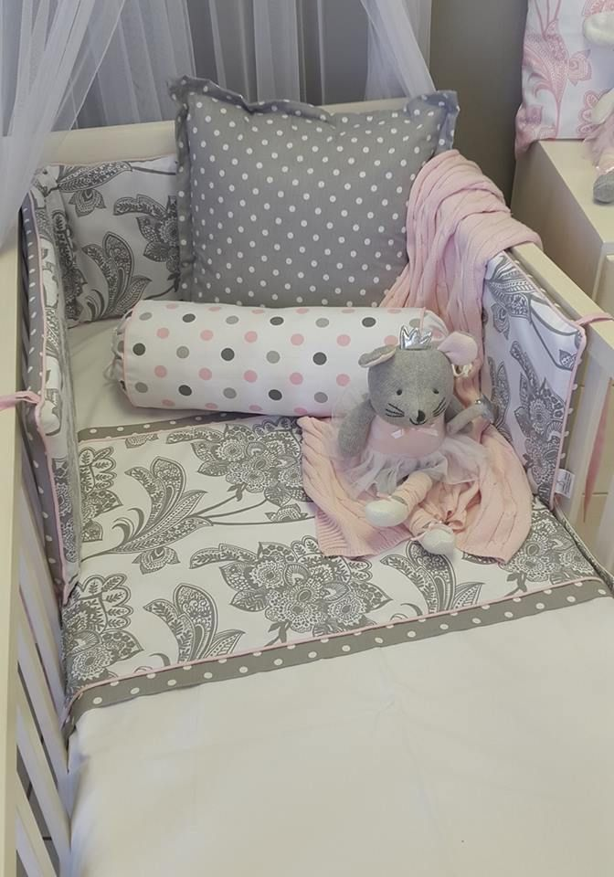 If you're wanting something a little more mature, our #Fleur is perfect for your #PinkandGrey nursery! Spoil your #BabyGirl!   #BabyBedding #BabyLinen