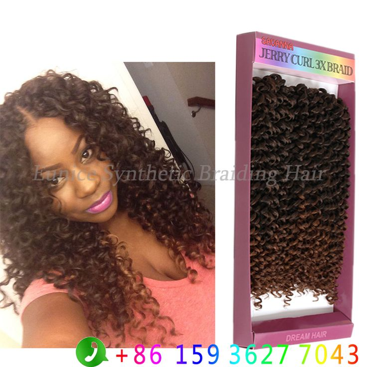 Synthetic Freetress Jerry Curl Hair Weave Crochet Twist 3x