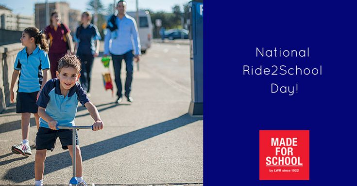 Dust off your helmets and pump up the tyres it's National Ride2School Day Friday 13th March 2015.