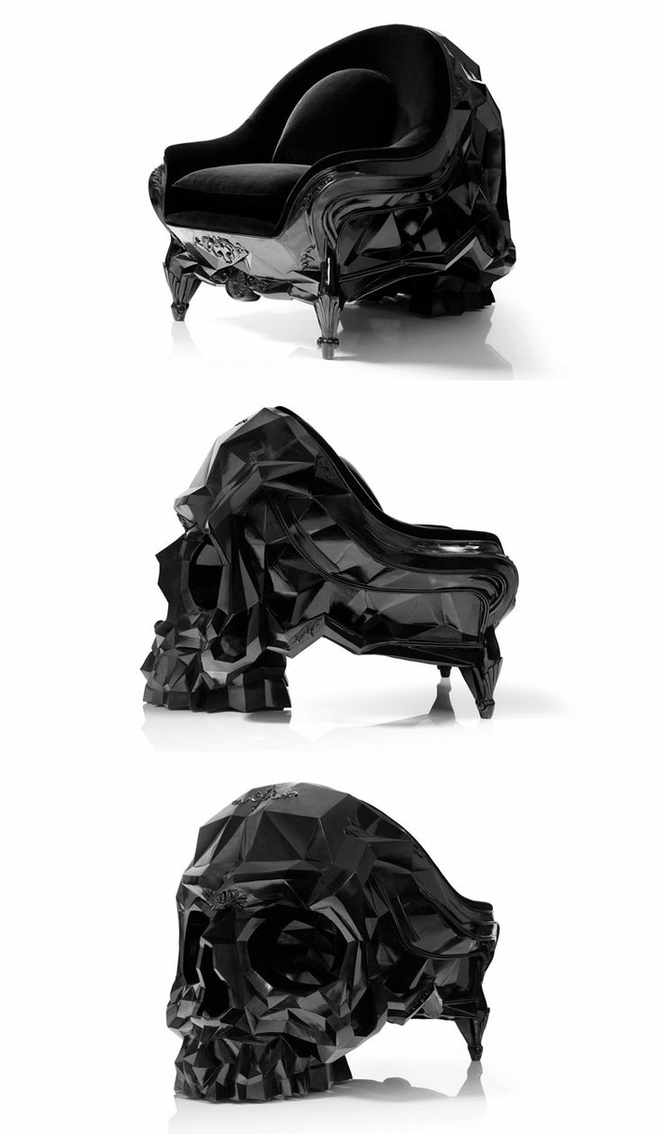 Black skull chair - Skull Armchair Skull Armchair Is An Ominously Powerful Looking Piece Of Furniture By French Designer Harold Sangouard Aka Harow That Seems Fit For