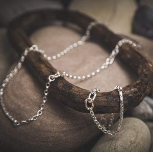 The Island Link Collection was inspired by Martina Hamilton's visits to her ancestral home on Dernish Island