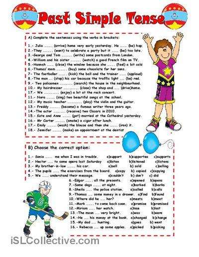PAST SIMPLE TENSE worksheet - Free ESL printable worksheets made by teachers