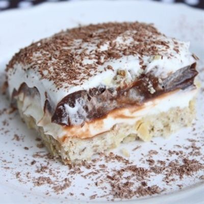 Ive made this probably 100 times. Mama gave me this recipe about 5 years ago and its always my GO-TO dessert. Never met anyone who didnt like it! Chocolate Delight. - Click image to find more Outdoors Pinterest pins