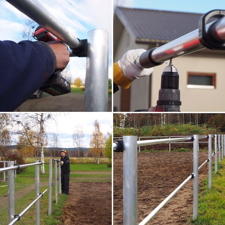 Installing SILBER Smart fence. Luxurious and safe horse fence with electricity.