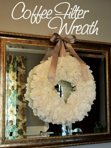 One of our favorite DIY projects of the week: Learn how to make a coffee filter wreath from @Christina {The Frugal Homemaker}.