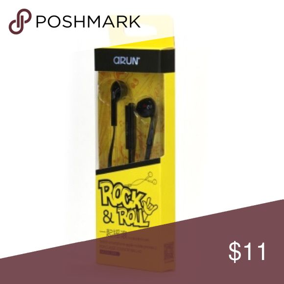 Selling this Arun Rock & Roll Headphones Earbuds With Mic on Poshmark! My username is: discountcorner. #shopmycloset #poshmark #fashion #shopping #style #forsale #Arun #Other