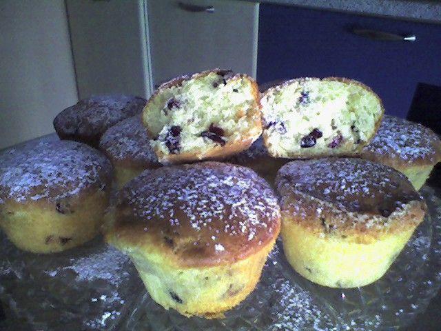 muffin ai mirtilli rossi...