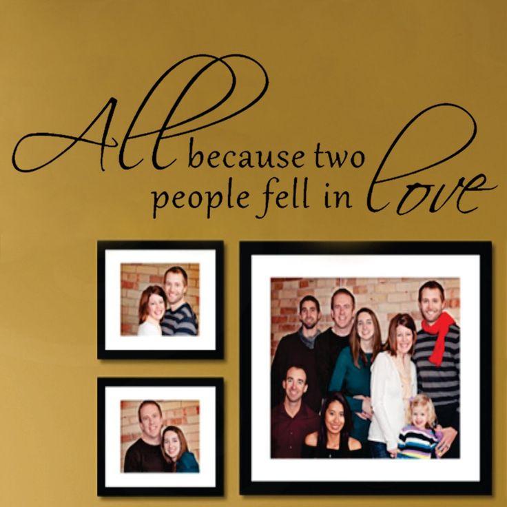 Все Потому Что Два Человека Полюбили друг друга-наклейки На Стены Слова Любви Слова Поговорки Котировки Виниловые Буквы 20 x 62 L