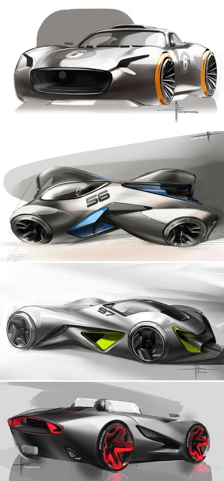 Concept Car Design Sketches by Svyatoslav Konahovski
