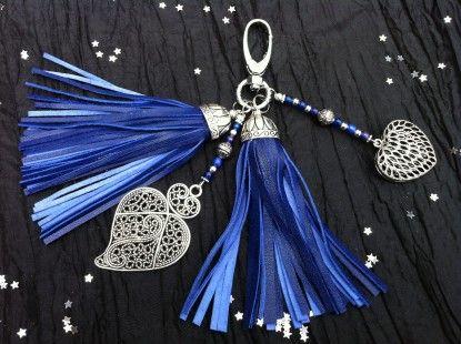Bijou de sac bleu électrique : Porte clés par sopearly sur ALittleMarket