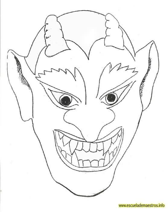 dibujo careta demonio - Google Search