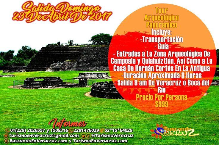 Salida mañana al Tour #Arqueológico Panorámico visitando #Cempoala #quiahuiztlán y #LaAntigua saliendo de Veracruz o Boca del Río costo por persona $999  Más información en: Tels: 01 (229) 202 65 57 y 150 83 16 PRIP ID: 52 * 15 * 64029 Cel - WhatsApp - Line: 2291476029 Email turismoenveracruz@gmail.com http://www.turismoenveracruz.mx