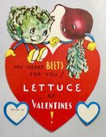 My Heart Beets for You Lettuce B Valentines Vintage Valentines Day Greeting Card