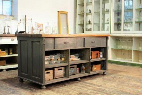 Painted-Shop-Counter-Kitchen-Island-Butchers-Block-Vintage-Haberdashery
