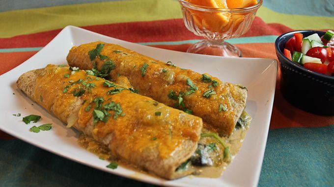 Vegetarian Enchiladas Verdes on @PBS Parents from Aviva Goldfarb of The Six O'Clock Scramble