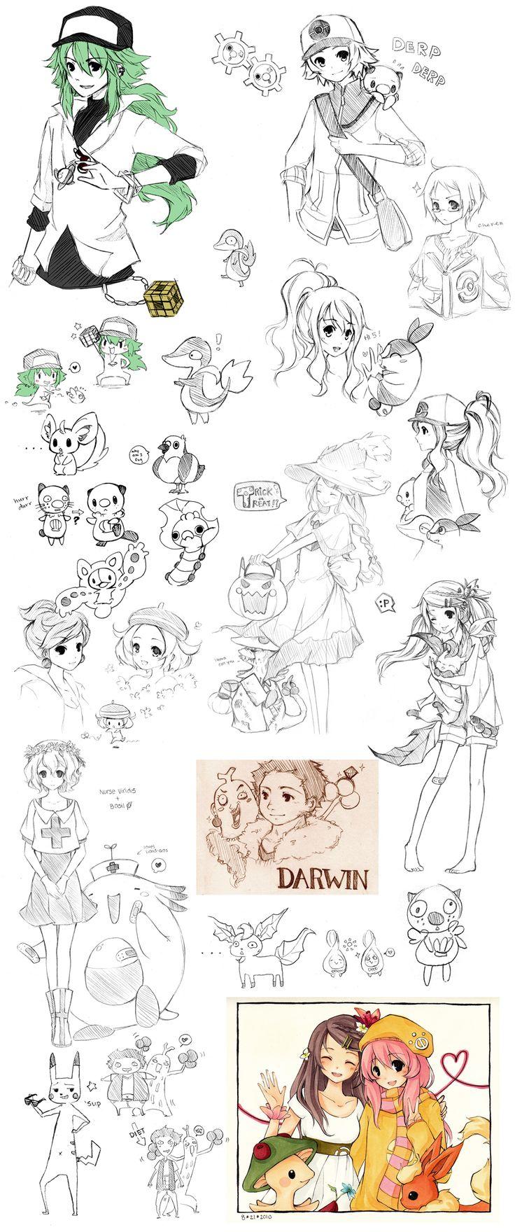 Pokemon Sketch Dump by cartoongirl7.deviantart.com on @deviantART