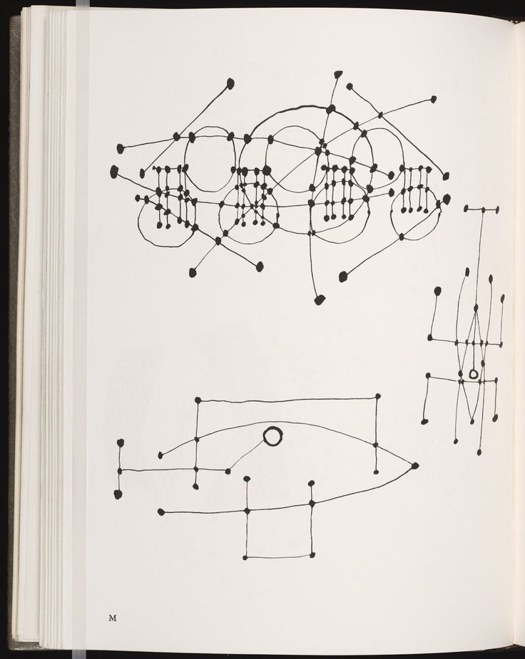 Picasso's Constellations, Ink Drawing 1924.: