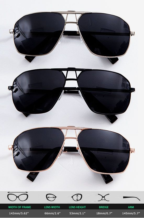 Accessories :: Square Boeing Police Sunglasses-Sunglasses 15 - Mens Fashion Clothing For An Attractive Guy Look