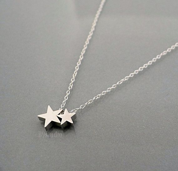 Silver Star Necklace sterling chain small dainty charm by B9studio, $26.00
