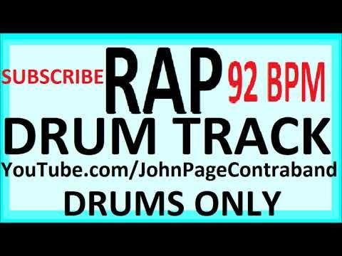 6) Rap Hip Hop Drum Track Beat 92 bpm FREE - YouTube | Band | Hip