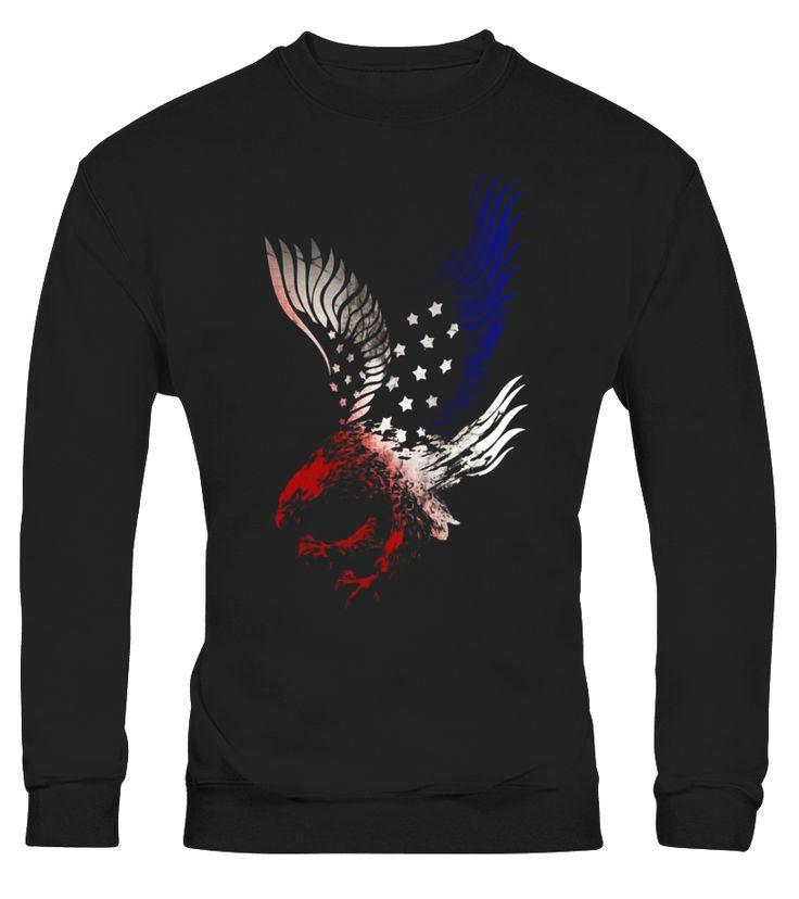 Patriotic Shirt Eagle American Red White Blue Tshirt Tee USA  Funny back shot T-shirt, Best back shot T-shirt