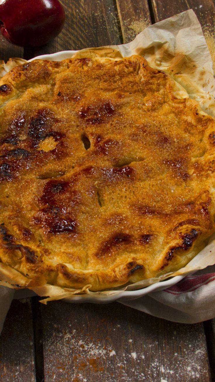 Vous ne résisterez pas à cette recette de tarte aux pommes gourmande et croustillante !