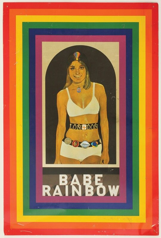 "PETER BLAKE ""Babe Rainbow"" - 1968. Silkscreened onto aluminum."