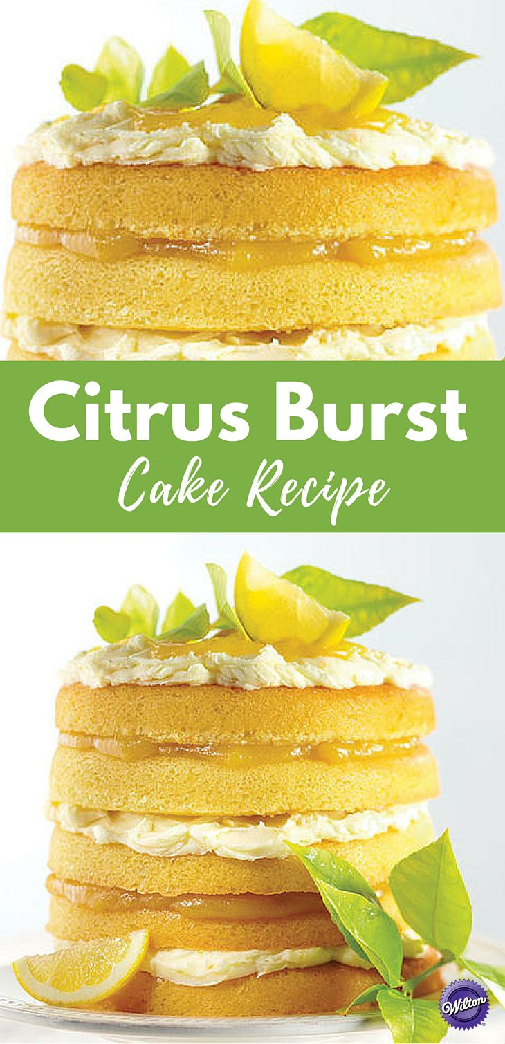 Citrus Cake Recipe - Perfect to serve for summer parties, this Citrus Cake is bursting with lemon, lime and orange flavors. This naked layer cake is so clean and crisp in flavor that it doesn't need an outer layer of icing.