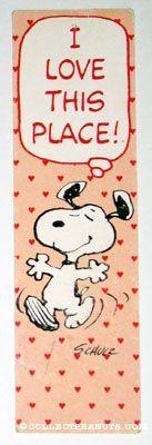 Peanuts Bookmarks | CollectPeanuts.com