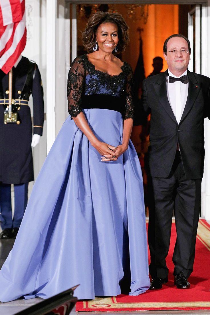 Michelle obama s state dinner dresses