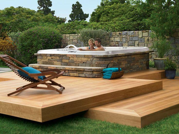 Oltre 25 fantastiche idee su piscine fuori terra su - Vasca idromassaggio x esterno ...
