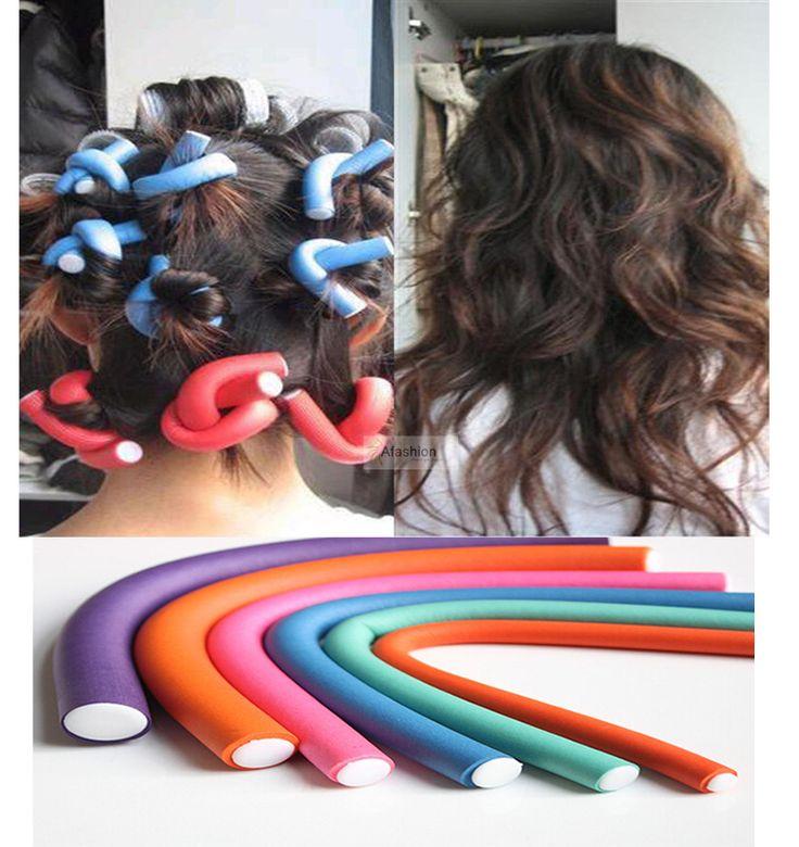 10 unids rizador Makers espuma suave Bendy torcedura rizos Flexi Rods DIY rulo de pelo Curling Bigudiler herramientas de peinado
