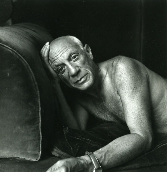 Photo by Jacques-Henri Lartigue, 8-1955, Picasso, Cannes.