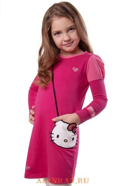 Платье на девочку hello kitty