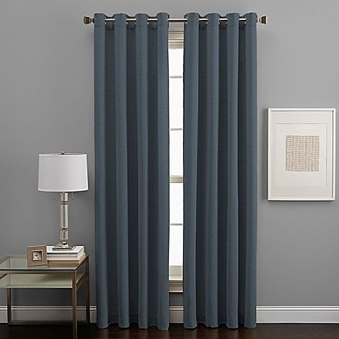 West End Grommet 63-Inch Room Darkening Window Curtain Panel in Pewter