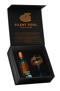 Luxe Gift Box Silent Pool Gin 70cl +glas