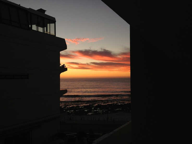 Sunset from my old flat. Sea Point, Cape Town