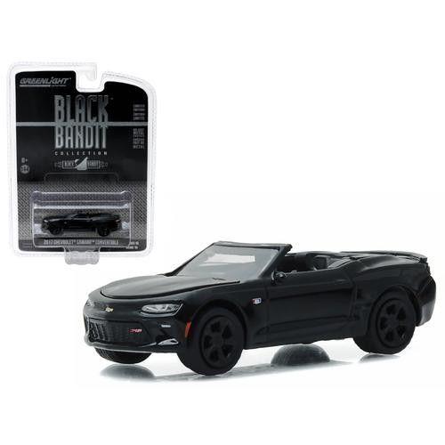 2017 Chevrolet Camaro Convertible Black Bandit 1/64 Diecast Model Car by Greenlight