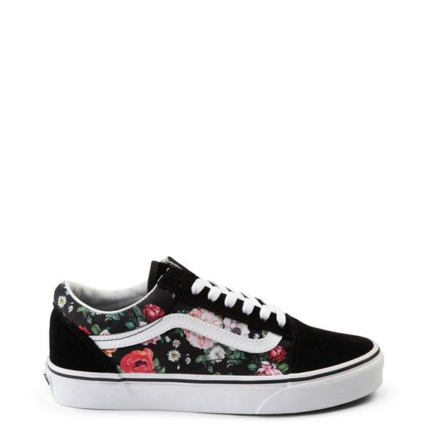 Vans Old Skool Warped Floral & Black Skate Shoes   Zumiez