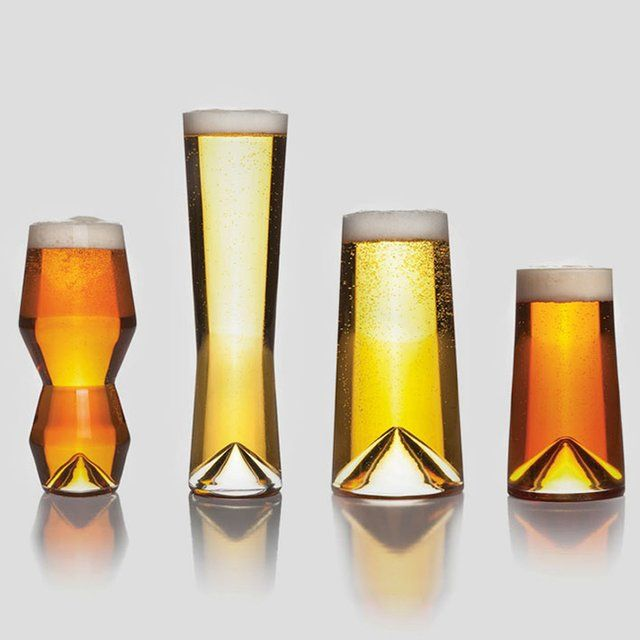 """The Monti Taste Collection glasses cater to the burgeoning craft beer market and holds each of your favorite bottles of beer perfectly. The Monti Taste Collection set includes four (4) glasses specifically designed for IPA, Pilsner, Pint (16-ounce) and 12-ounce brews. Set includes four (4) beer glasses in an elegant gift box.• Designer: Daniele 'Danne' Semeraro• Brand: Sempli• Material: Lead free crystal• Color: Clear Measurements: Monti-IPA 3"""" x 3"""" x 6-5/8""""Monti-Pilsner 2-1/2"""" x 2-1/2"""" x…"""