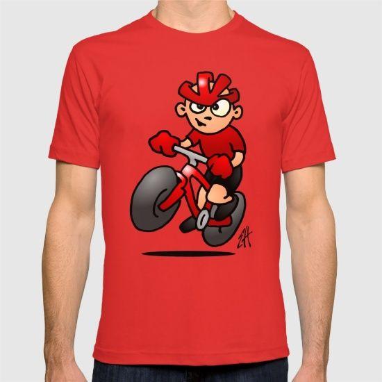 MTB T-shirt. #VTT #ATB #MTB #Tshirt #Society6 #Cardvibes #Tekenaartje #SOLD