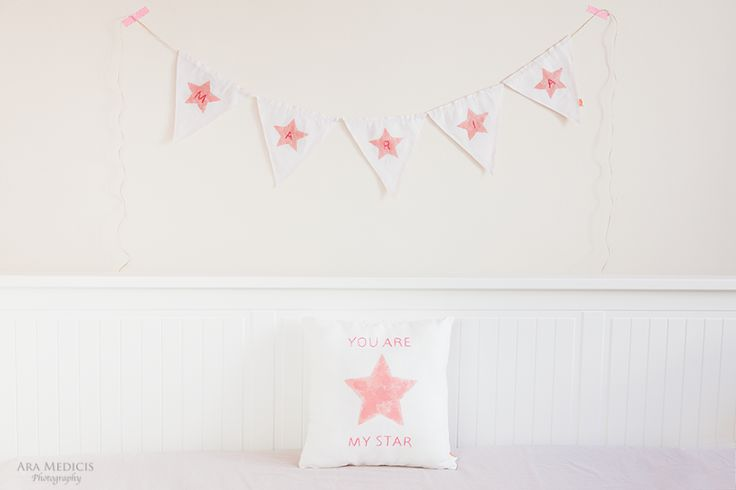 You Are my Star Pillow Garland with name